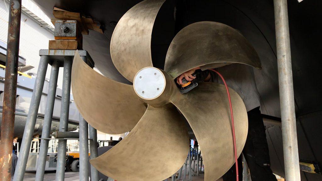 Sanding Radius on Propeller Q-Sanding